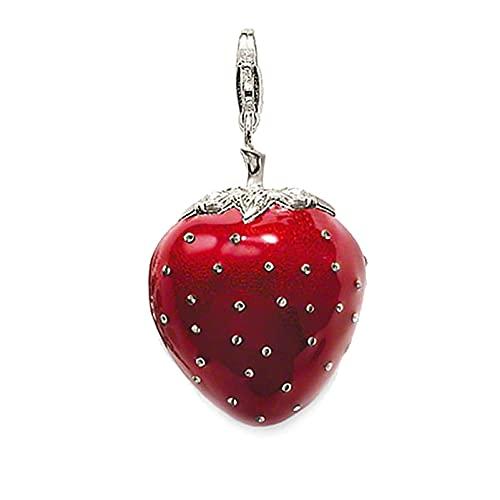 OYZY Red Strawberry Medallet Colgante, Joyería De Amor Europa Bijoux 925 Accesorios Colgantes De Plata Esterlina For Mujer
