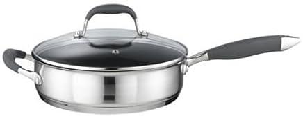 Lakeland My Kitchen Stainless Steel 24cm Non Stick Lidded Saute Pan
