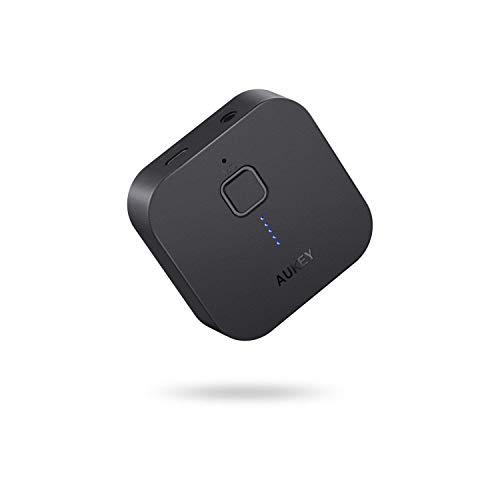 AUKEY Bluetoothレシーバー オーディオレシーバー 無線受信機 13時間連続使用 3.5mmステレオミニプラグ接続...