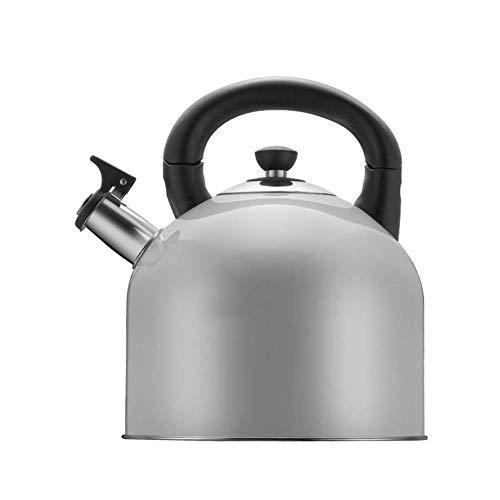 Wyf Anillo de Acero Inoxidable Moderna Pot 4L Gas Tetera Fogón de Gas de Cocina de cerámica Estufa de Camping Caldera (Color : Gray)