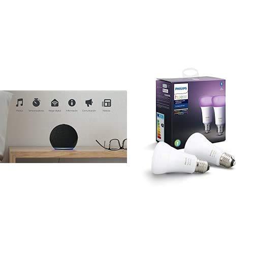 Brownie - Black + Philips 2x BLE Color Bulb - E27