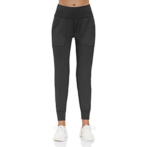 ZZIHAN Pantalones de chándal para mujer con bolsillos para entrenamiento, yoga, Pantalones de chándal, S