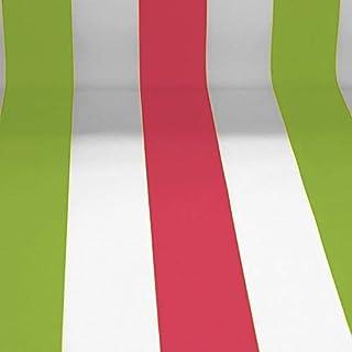 NOVELY Sunrise Oxford 420D Markisenstoff | extrem reißfestes und dichtes Gewebe | UV-beständig 4-5 von 8 | Polyester Stoff Outdoor Meterware Strandkorb Zeltstoff wasserdicht W-08-22 Weiß-Grün-Pink