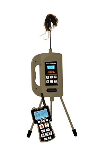 MOJO Outdoors Triple Threat E-Caller Predator Coyote Call Decoy 3-Part Complete Calling System for Successful Predator Hunting, Includes Remote, Critter Decoy and Comes Loaded with 80 Proven Sounds