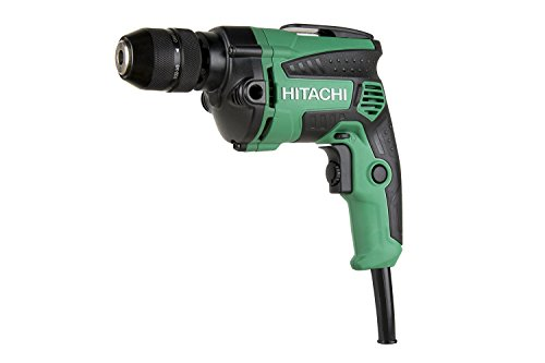 Hitachi D10VH2 3/8 inch Corded Drill, Variable Speed Trigger, Metal Keyless Chuck, 7.0 Amp, 0-2,700 RPM, 5 Year Warranty
