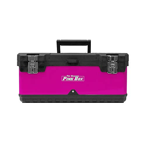 The Original Pink Box 20-Inch Portable Steel Toolbox With Removeable Tray Kentucky
