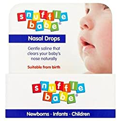 Snufflebabe nasal drops contain saline, which can be used to relief symptoms of congestion in babies.