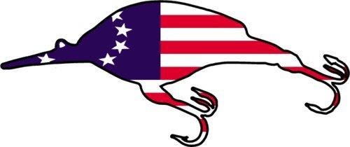 Pesca Imán–la bandera americana Crankbait imán de nevera Imán–pesca–regalo perfecto de pescador de graves marido–fabricado en los Estados Unidos