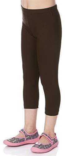 Merry Style Leggins 3/4 Mallas Pantalones Piratas Ropa Deportiva Niña MS10-131 (Marrón, 128 cm)
