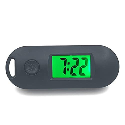 Aiong Despertador, USB/AAARelojes LED Despertador de Madera Mesa de Reloj Control de Voz Digital