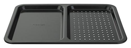 Prestige Inspire - Split Oven Tray - Non Stick - 2 in 1 - Heavy Gauge Carbon Steel - 40 x 32.5 x 2 cm