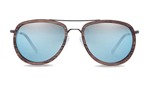 KERBHOLZ Unisex Sonnenbrille Ferdinand Walnut SUNWFER0075 One Size Super Blue