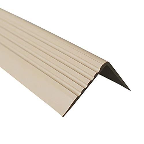 Treppenkantenprofil Selbstklebend PVC Kunststoff Antirutsch-Profil Winkelprofil 50x42, beige, 150cm