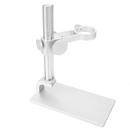 Desktop Microscope Holder, Aluminum Alloy Stable 32-34mm Microscope Bracket, for Digital Microscopes for Electron Microscopes(White)