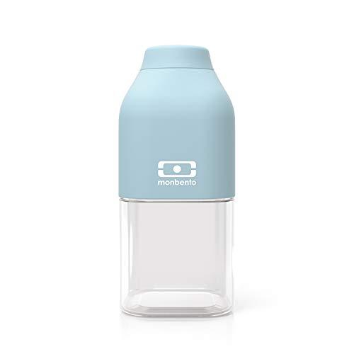 monbento - MB Positive S blau Iceberg Trinkflasche Kinder bpa frei - 0,33 L - Tritan Trinkflasche