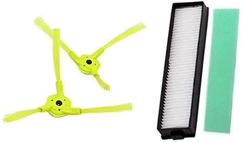 4 unidades actualizadas (1 par de cepillo lateral + filtro hepa + filtro de esponja) para LG HOM-BOT ROBOKING Robot aspiradoras accesorios HOM Bot
