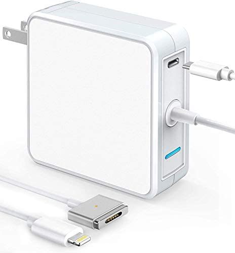 Mac Book Pro Charger 60W Magnetic 2 Power Adapter with 18W USB C Quick Power Delivery Charger product image