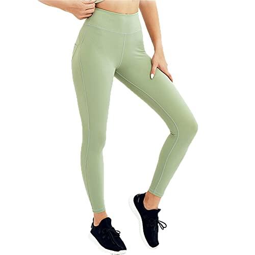 Leggins Mallas Pantalones Deportiva Niña, Pantalones de cintura altos de la cintura altos de la sensación de las mujeres Levantamiento de buttly Pantalones de yoga Pantalones de entrenamiento Ejecutar