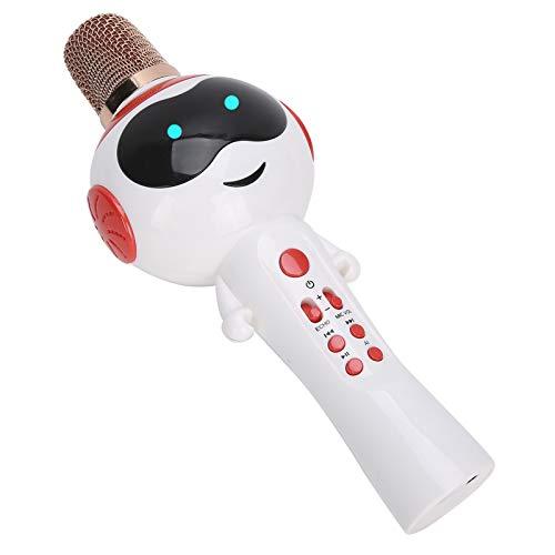 EBTOOLS1 Micrófono de Mano inalámbrico Bluetooth, Lindo micrófono de Karaoke, máquina de micrófono de Mano, con luz, Regalos Ideales para niños