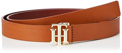Tommy Hilfiger Logo Belt 2.5 Juego de accesorios de invierno, Brown, 95 para Mujer