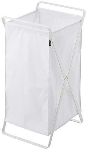 山崎実業 洗濯かご ランドリーバスケット タワー ホワイト 2484