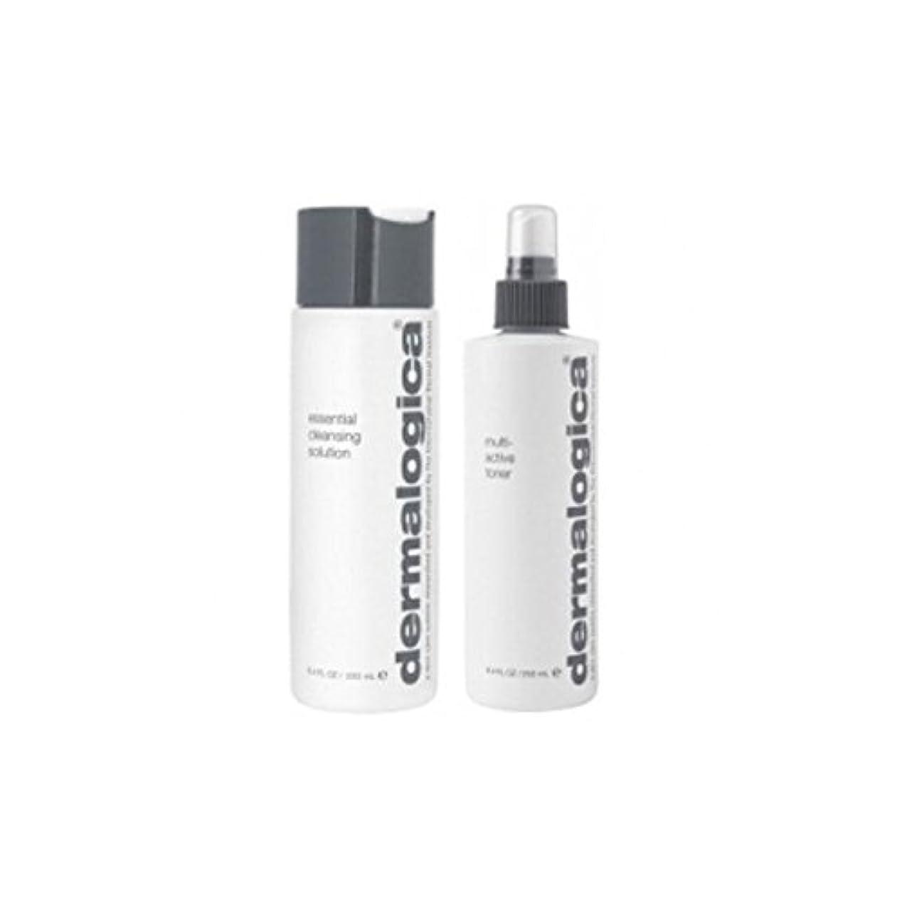 気づかないドメイン弾力性のあるダーマロジカクレンジング&トーンデュオ - 乾燥肌 x4 - Dermalogica Cleanse & Tone Duo - Dry Skin (Pack of 4) [並行輸入品]