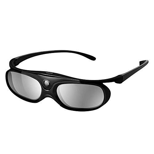 Elikliv JX60 3D Gafas Recargable 3D Obturador Activo Gafas Compatible con Epson...