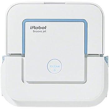 iRobot 240 Braava Jet - Robot Lava Pavimenti 3 in 1, Adatto per Bagni e Cucine, Pulisce a Secco, a Umido e Lava Grazie al Suo Precision Jet Spray, Bianco