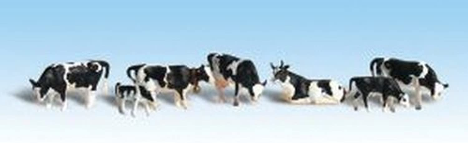 Woodland Scenics HO Scale Scenic Accents Figures Animal Set Holstein Cows (6) by Woodland Scenics B01LX5QT7W Neuartiges Design  | Exquisite (in) Verarbeitung