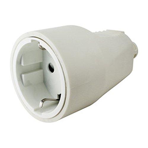 ElectroDH 36038PBPVC DH Base hembra PVC 16A/250V,con prot.inf.BL