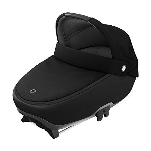 Maxi-Cosi Jade, Capazo de seguridad, Capazo de coche, apto desde el nacimiento, 0 a 6 meses, 0 - 9 kg, de 40 a 70 cm, Essential Black (Negro)