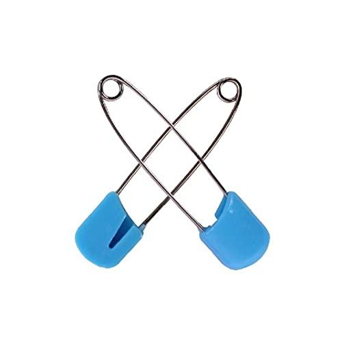 nJiaMe 20pcs Windel-Stifte Robuste Edelstahl-Windel-Windel-Pins mit sicherer Verriegelung Verschluss Verwenden Special Event Crafts oder Bunte Wäsche Pins (zufällige Farbe)