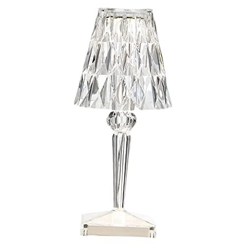 FLAMEER Lámparas de Mesa de Cristal acrílico, lámpara de Control táctil USB...