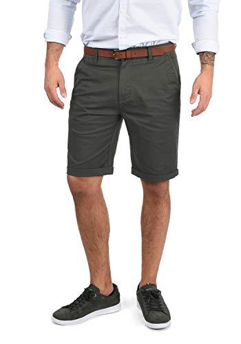 !Solid Montijo Chino Shorts Bermuda Kurze Hose Mit Gürtel Aus Stretch-Material Regular Fit, Größe:XXL, Farbe:Dark Grey (2890)