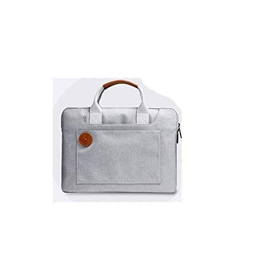 GYYY The Abbreviated Fashion 14 Inch Men Messenger Bag Multifunction Laptop Multi-Functional Effortless Fashion (Color : White, Size : 13')