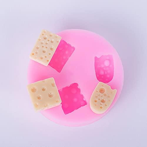 TIANLING SiliconaMoldes Queso Molde de Silicona Postre Miniatura Alimento Polímero Clay Resina Goma Pasta Galleta Biscuit Candy Chocolate