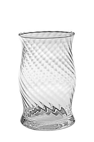 KUBUS glazen bloemenvaas 20cm, glazen kaarshouder, glazen Posy vaas, dikke en robuuste vaas voor Centrepieces, bruiloft, mond geblazen in de EU