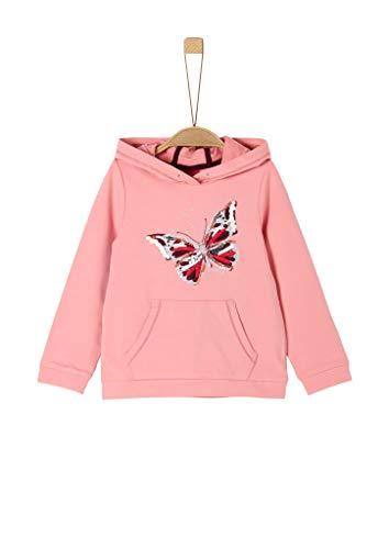 s.Oliver Mädchen 53.911.41.2259 Sweatshirt, Rosa (Rose 4273), 116 (Herstellergröße:116/122/REG)