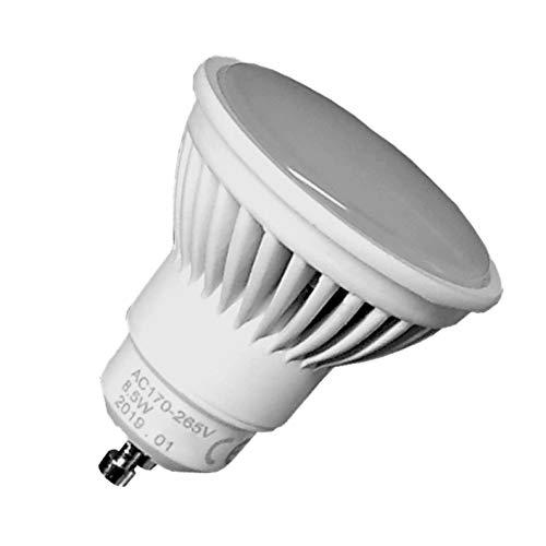 Pack 5x GU10 LED 8,5w Potentísima. Color Blanco Frío (6500K). 970 Lúmenes. Única con ángulo de 120 grados. A++