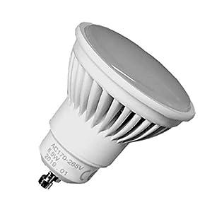 Pack 5x GU10 LED 8,5w Potentísima. Color Blanco Neutro (4500K). 970 Lúmenes. Única con ángulo de 120 grados. A++