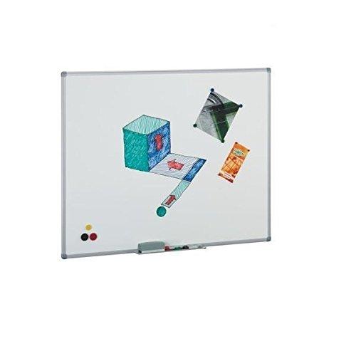Pizarra blanca magnética vitrificada Faibo 61x100 cm