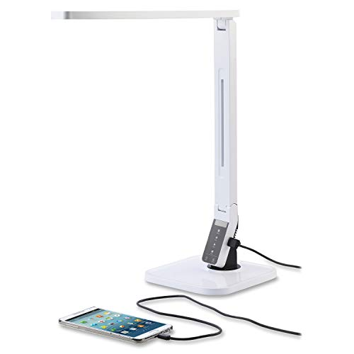 Lorell 99773 Smart LED Desk Lamp, White