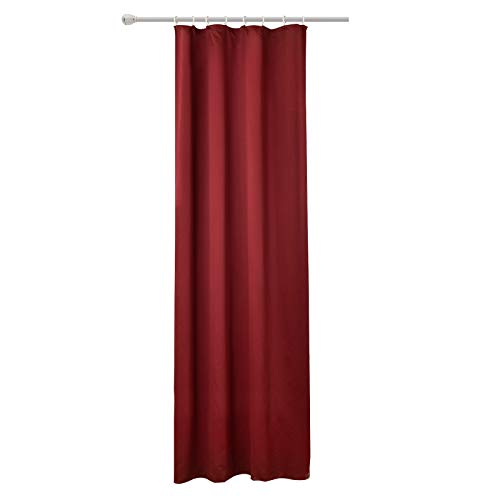 WOLTU #489, Vorhang Gardinen Blickdicht mit kräuselband für schiene, Leichter & weicher Verdunklungsvorhang für Wohnzimmer Schlafzimmer Tür, 135x225 cm, Bordeaux, (1 Stück)