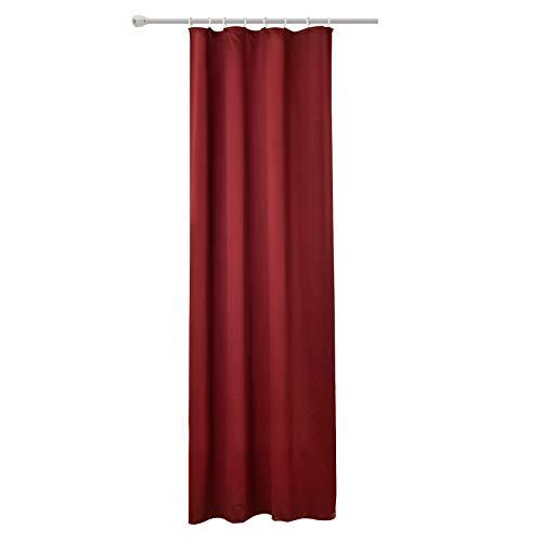 WOLTU #489, Vorhang Gardinen Blickdicht mit kräuselband für schiene, Leichter & weicher Verdunklungsvorhang für Wohnzimmer Schlafzimmer Tür, 135x245 cm, Bordeaux, (1 Stück)