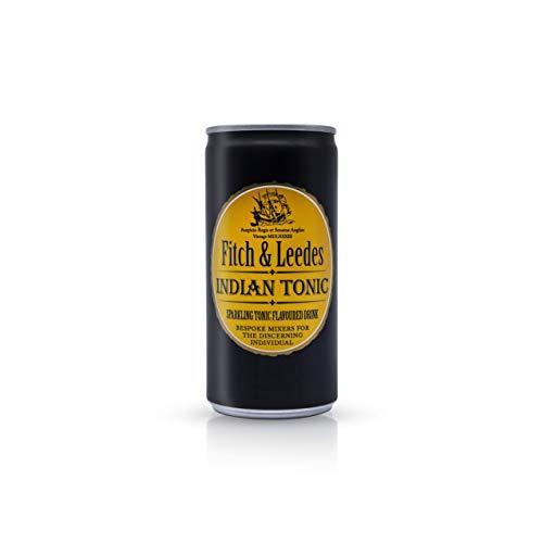 Fitch & Leedes Indian Tonic Water (24x200ml) / Erfrischendes Tonic Water / Südafrika / Toll zum Gin [würzig, spritzig, elegant] (Einweg Dosen Preis incl. 6,00 € / 24 x 0,25€ DPG Einwegpfand