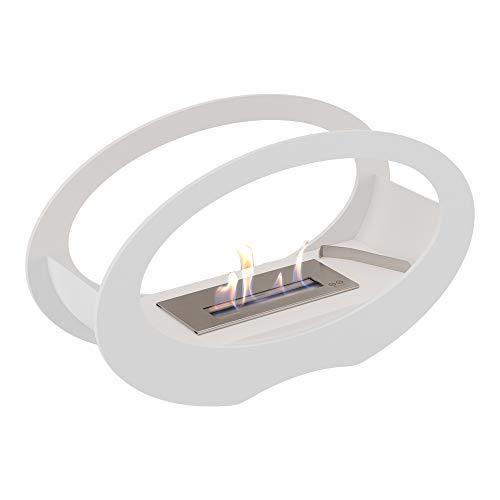 Kratki Echo Ethanol-Kamin, freistehender Echtfeuer-Kamin, Feuerlinie 15 cm, Maße in cm: B50 x H29 x T16,2 cm, Gewicht: 7,8 kg, Brennstoff: Bio-Ethanol für einen ruß- und rauchlosen Feuerzauber