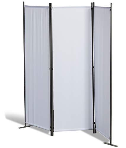GRASEKAMP Qualität seit 1972 Stellwand 165x170 cm dreiteilig - weiß - Paravent Raumteiler Trennwand Sichtschutz