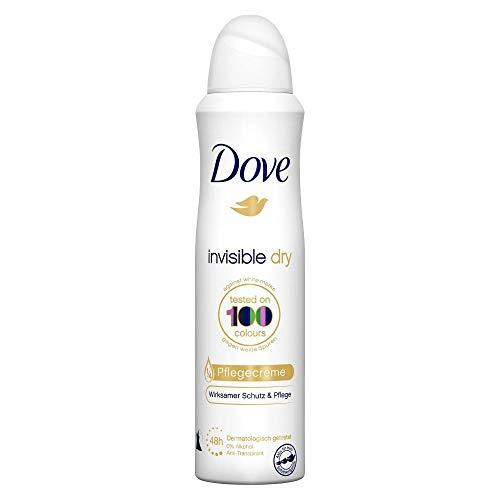 Dove Deospray Invisible Dry (48 Stunden Schutz mit 0% Alkohol und 1/4 Pflegecreme), 1 Stück (1 x 150 ml)