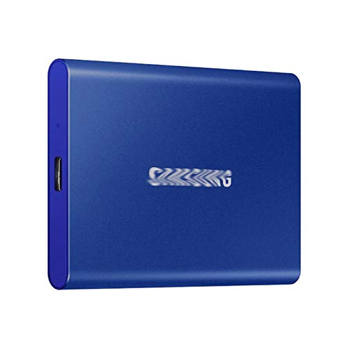 External hard drive For Samsung T7 Portable SSD NVME 500GB 1TB 2TB External Solid State Drive Type-C USB 3.2 Gen2 And For Laptop (Color : Blue, SSD Capacity : 500GB)