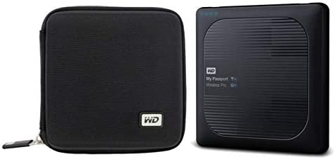 WD 4TB My Passport Wireless Pro USB 3 0 External Hard Drive Compact Hard Drive Case product image